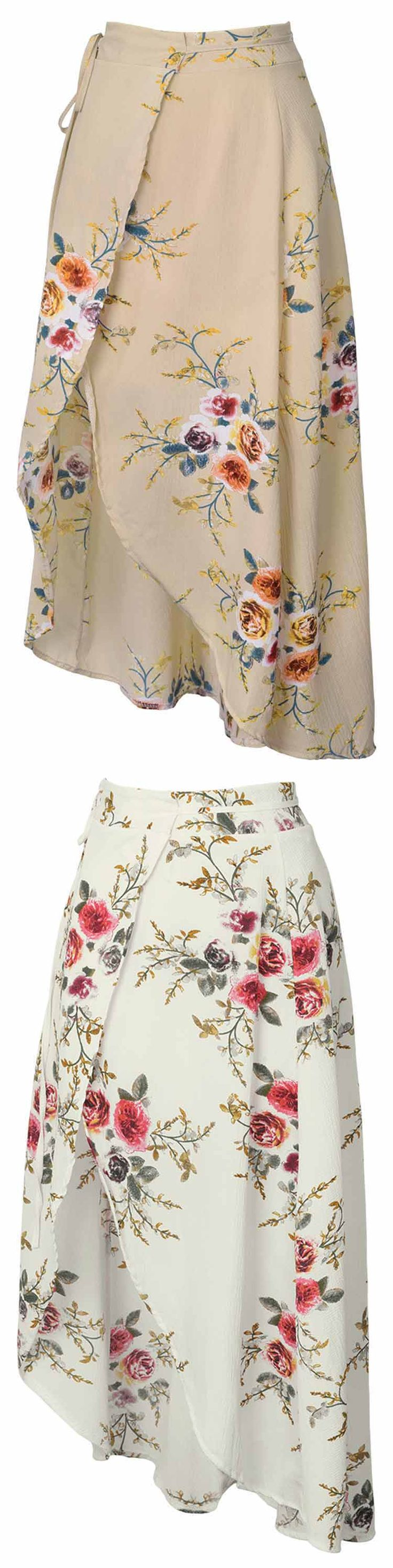 Get some ready for spring break! Only $21.80 & Short Shipping Time! The skirt adds a touch of grace and femininity to your whole look. It features beautiful printing and high-low hem details that are flattering. Take it now at Cupshe.com