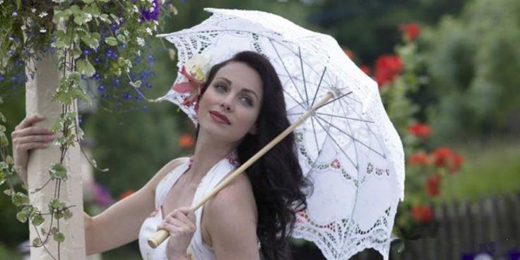 Винтажные Свадебные Кружевные Зонтики И Веера Свадебные Аксессуары Купить Зонтики Получите