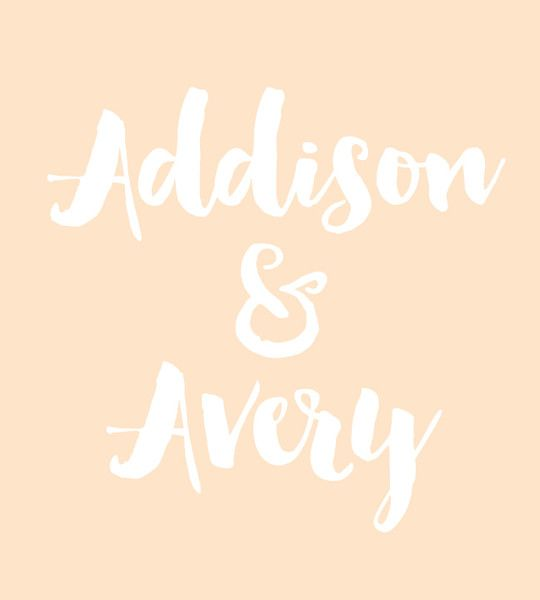 Addison & Avery - Baby Names That Are Perfect for Twins - Photos