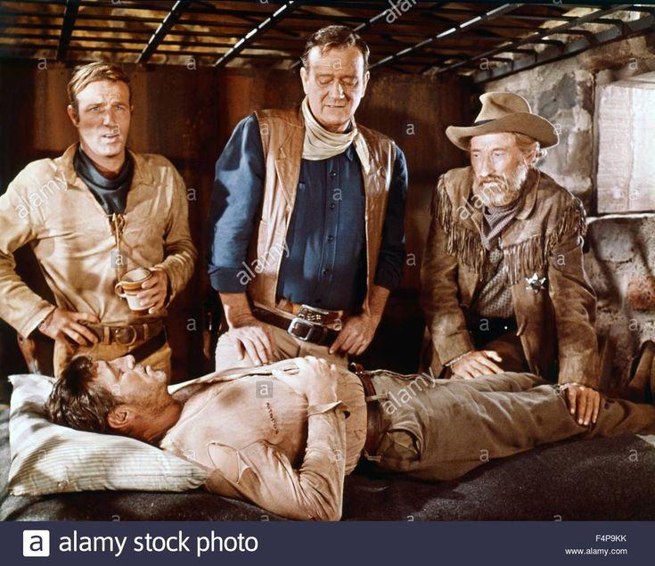 James Caan, John Wayne, Arthur Hunnicutt, Robert Mitchum / El Dorado Stock Photo, Royalty Free Image: 89001015 - Alamy