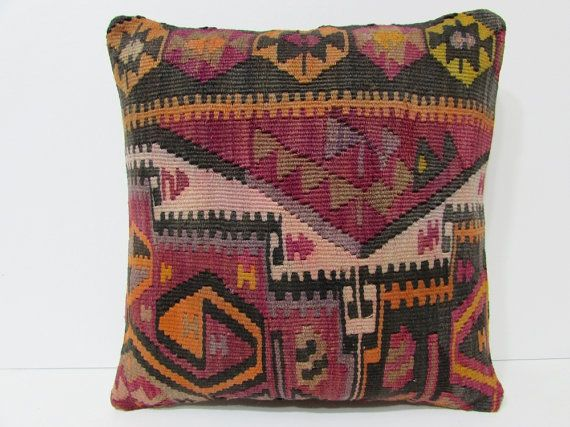 decorative couch pillow 18x18 floor cushion cover chair cushion cover boho cushion cover shabby chic pillow cover kilim pillow cover 21049