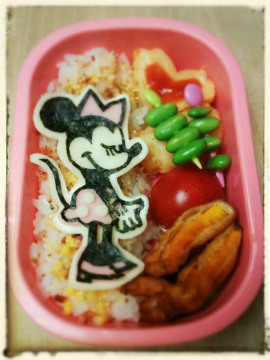 "Pretty Minie bento!! Find out more character bentos on Facebook site ""Cool& Kawaii Character Bento"""