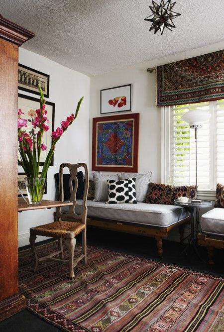 Vintage-Chic Guest Bedroom. Photo Agnus Fergusson, Design by Karen Cole for House and Home.