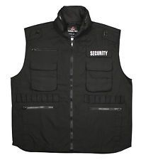 security guard bulletproof vest | Black SECURITY Ranger Vest Cotton Bouncer Security Guard Hooded Vests ...