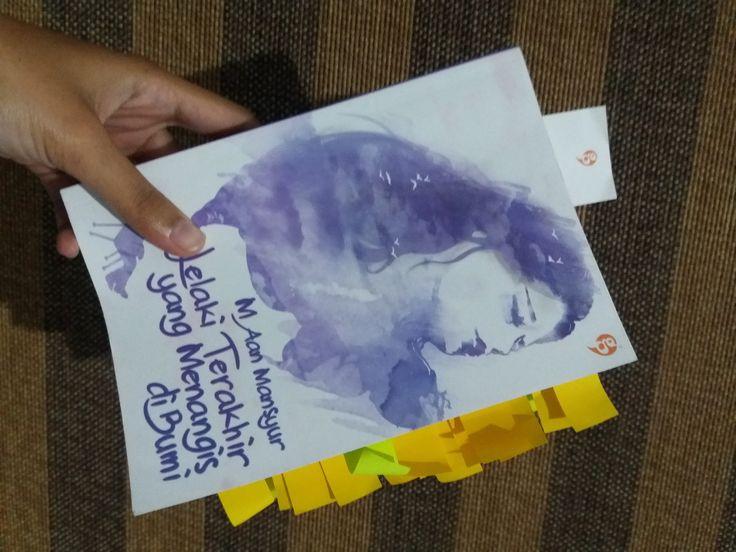 Moeslema » » #MOESLEMAXAGROMEDIA: 'Lelaki Terakhir yang Menangis di Bumi' karya Aan Mansyur