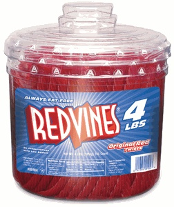 Red Vines Original Red Licorice!  I always kept a tub in my classroom for small rewards--mostly to the students!  :)