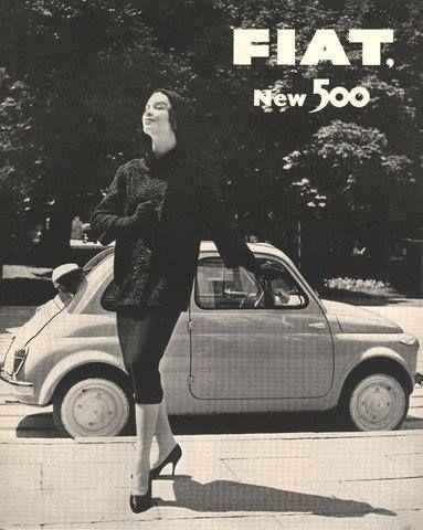 The Cinquecento debuted on July 4 1957. (layylac on Tumblr) http://ift.tt/1lxIEna Tutte le Fiat 500 ancora circolanti nel mondo