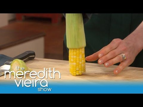 The Easiest Way To Shuck Corn! | The Meredith Vieria Show - YouTube