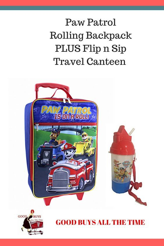 Paw Patrol Rolling Backpack Plu S Flip N Sip Can Perfect For Summer Vacation Road