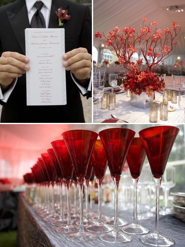 Burgundy decor ideas wedding pinterest