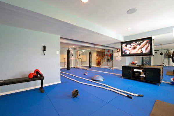 Top 40 Best Home Gym Floor Ideas Fitness Room Flooring Designs In 2020