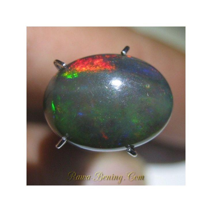 Jual Batu Mulia Natural Black Opal 2.40 carat Jarong Warna Ayam Jago