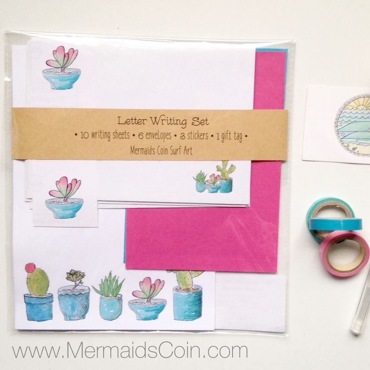 Lovely new letter writing sets, ready for Mum on Mother's Day. I've even printed cute circle stickers to decorate your envelopes.