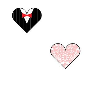 Get these Wedding Hearts perfect for a gift / card etc. for free