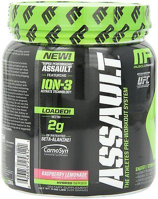 Assault raspberry #lemonade by #musclepharm - #pre-workout supplement(30 servings,  View more on the LINK: 	http://www.zeppy.io/product/gb/2/301271291721/