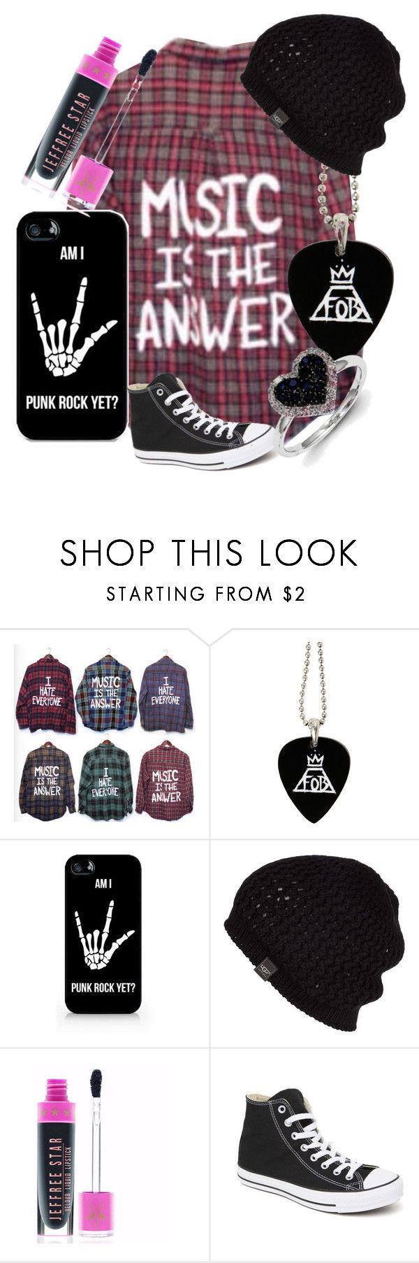 """""""Am I Punk Rock Yet?"""" by headphones-girl ❤ liked on Polyvore featuring Samsung, UGG Australia, Converse and Kevin Jewelers"""