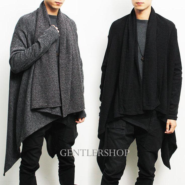 Avant-garde Mens Fashion Draping Shawl Knit Long Cardigan, GENTLERSHOP |  Clothing, Shoes - Top 25+ Best Mens Long Cardigan Ideas On Pinterest Mens Cardigan