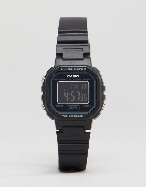 Casio Digital Watch In Black LA20WH-1B