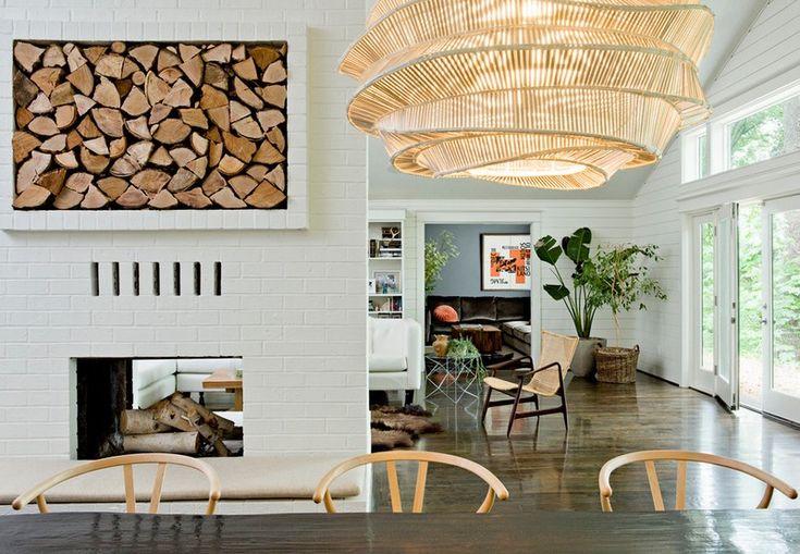 brennholz-lagern-kamin-raumteiler-regal-ziegel | wohnideen