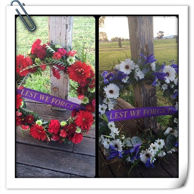 2014 Anzac Day Army and Navy Wreaths