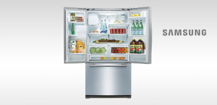 The Samsung 639L French Door Refrigerator - perfect for holding all those delicious Christmas and Summer dishes!