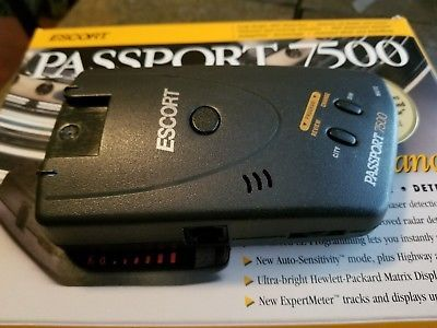 Escort Passport 7500 Radar Detector with Original Box