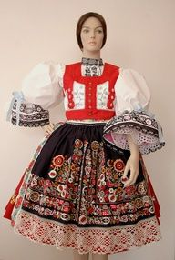 antique czech folk costumes -