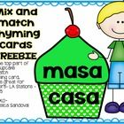 Mix and match Rhyming Cards FREEBIE   Cut the top part of the cupcake to match rhyming card.    This is great for centers- LA Stations –Daily 5    ...