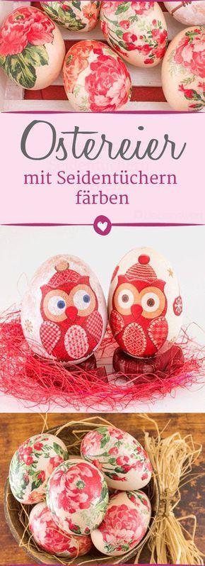 Schöne Idee für #Ostern: #Stars färben mit Seidentüchern – hier ist es …   – Ostern