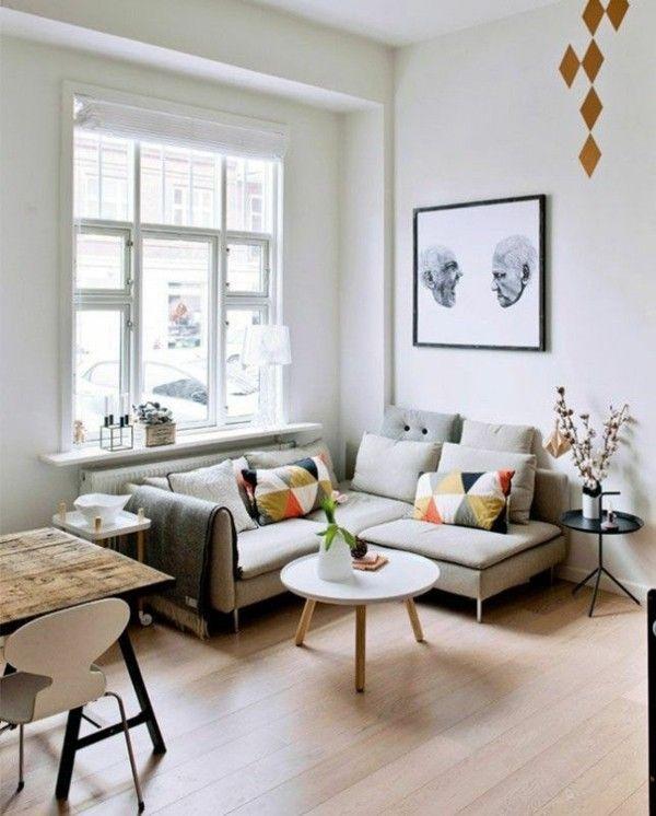 Kleines Wohnzimmer mit Essbereich einrichten   Tipps der ...