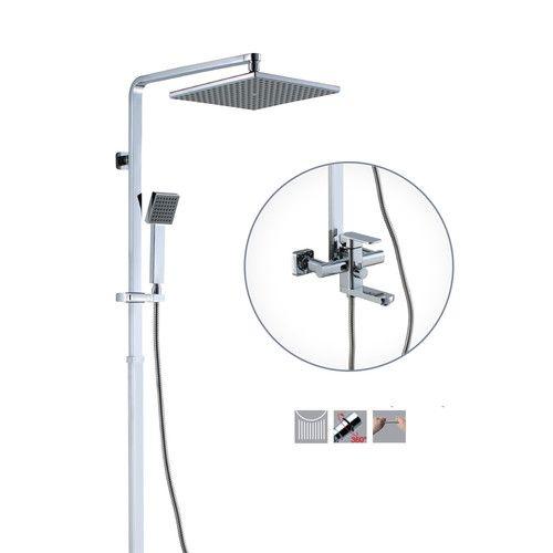 Zestaw Bateria Wannowa natryskowa Crest z deszczownicą - Zestawy Prysznicowe z Deszczownicą - Tanie Zlewozmywaki - FHU UNIKAT