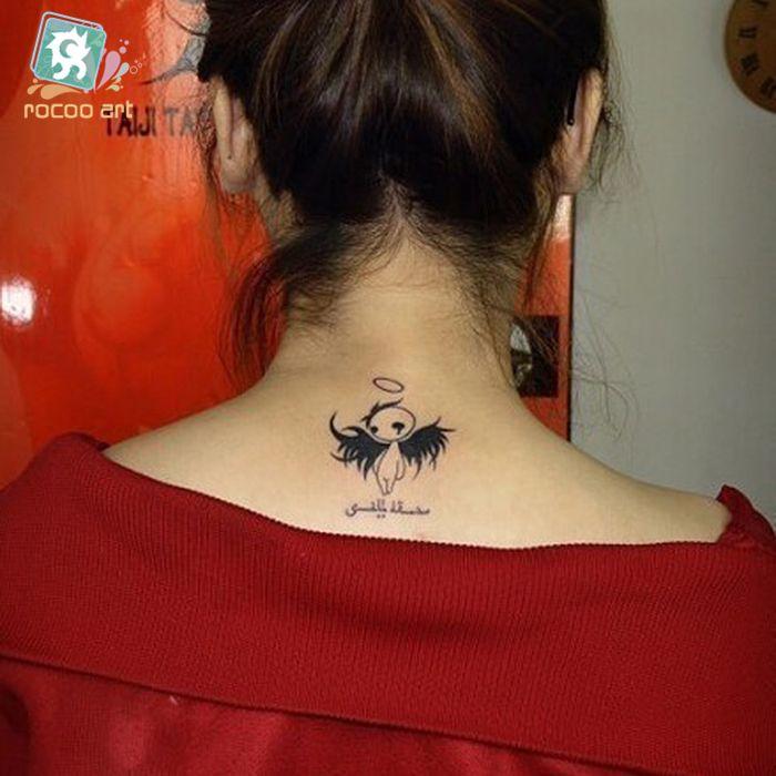 Makeup Products Waterproof Fake Tattoo Stickers Women Cartoon Angel Design Flash Tattoo Kawaii Temporary Tattoo Sticker