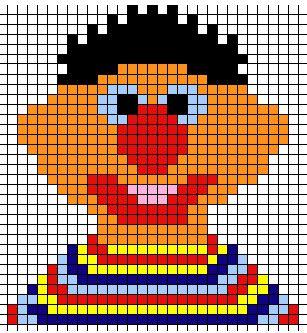 Ernie~ Duplicate Stitch