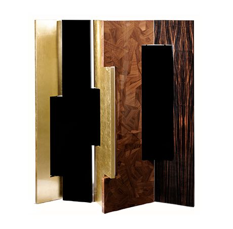 Avenue Folding Screen by Boca do Lobo | Avenue is a distinctive room divider in wood. The Folding Screen presents a modern design that can be easily placed in your luxury home. www.bocadolobo.com
