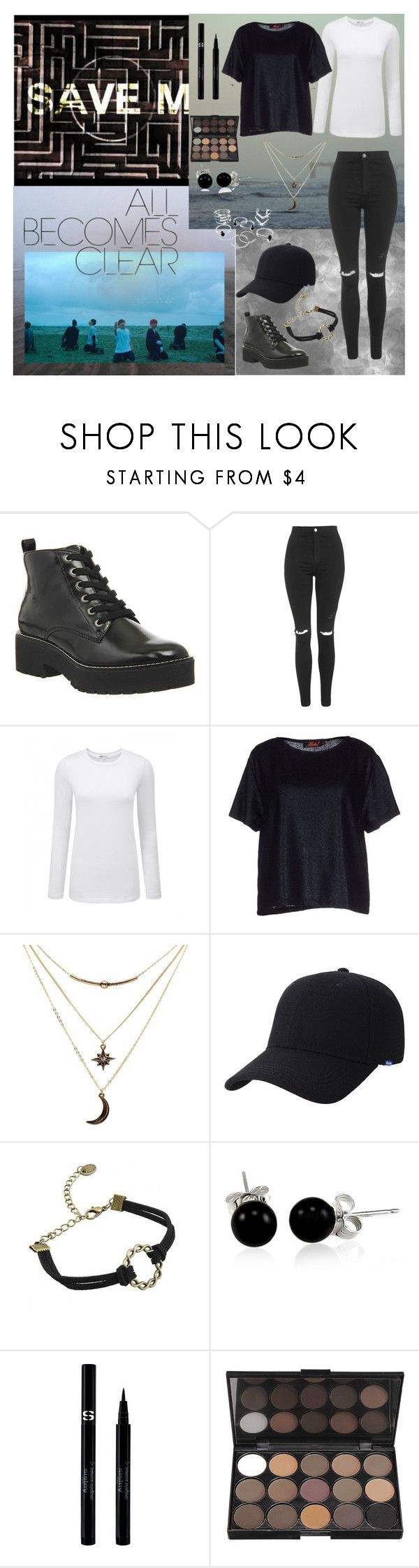 """""""BTS 'Save Me' MV inspired outfit"""" by lina0401 ❤ liked on Polyvore featuring Office, Topshop, Motel, Charlotte Russe, Keds, Bling Jewelry and Sisley"""