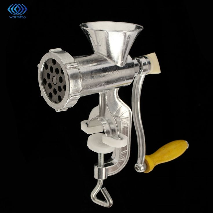 Handheld Meat Grinder Mincer Meat Sausage Noodle Dishes Making Gadgets Home Canteen Kitchen Cooking Tools Silver