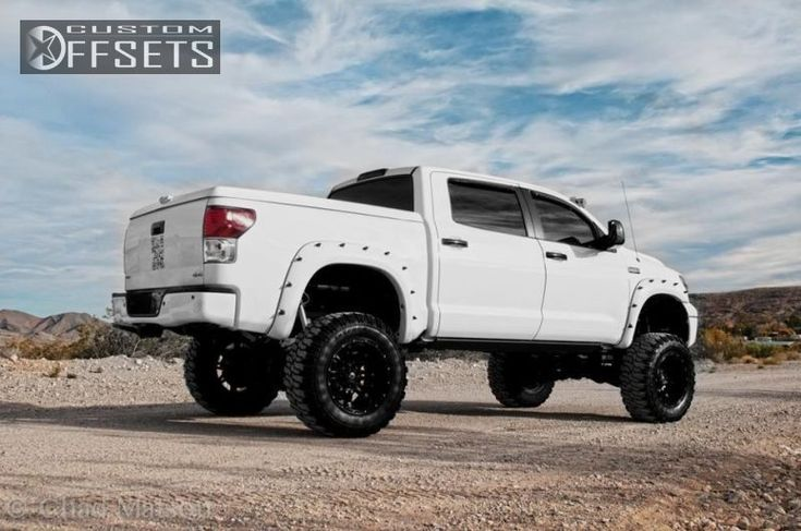 7 4 2008 tundra toyota sr5 4dr crewmax cab 4wd sb 57l 8cyl 6a suspension and or body lift 9 fuel off road hostage black gunmetal super aggre...