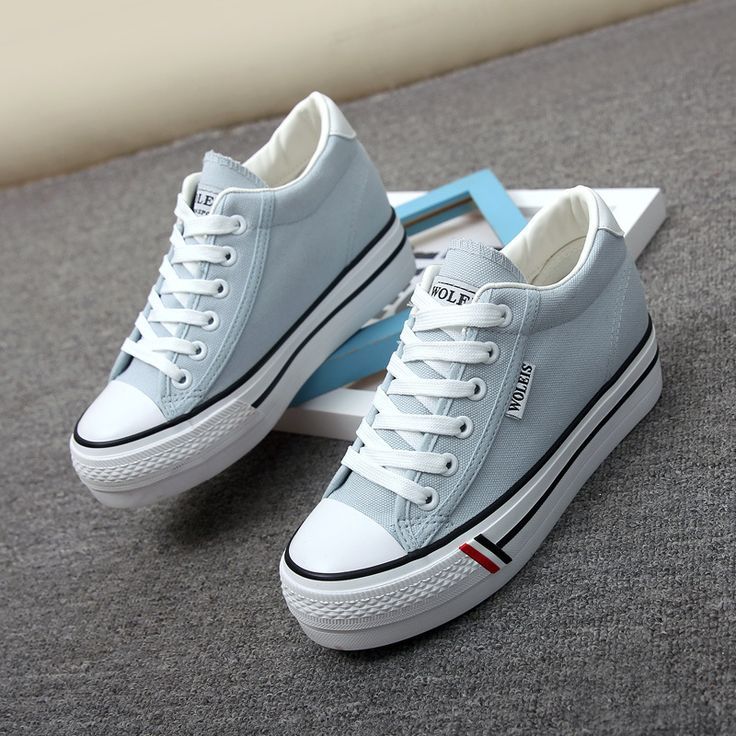 Spring autumn denim Jeans canvas shoes female thick soles increased comfort flat blue shoes patchwork female students shoes