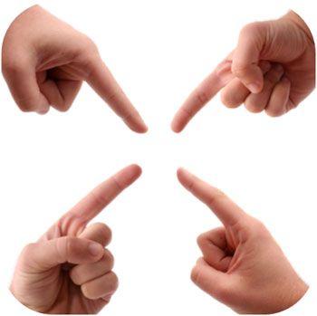 vaak wordt er bij conflicten veel met de vinger gewezen ipv consturcutief naar oplossingen te zoeken