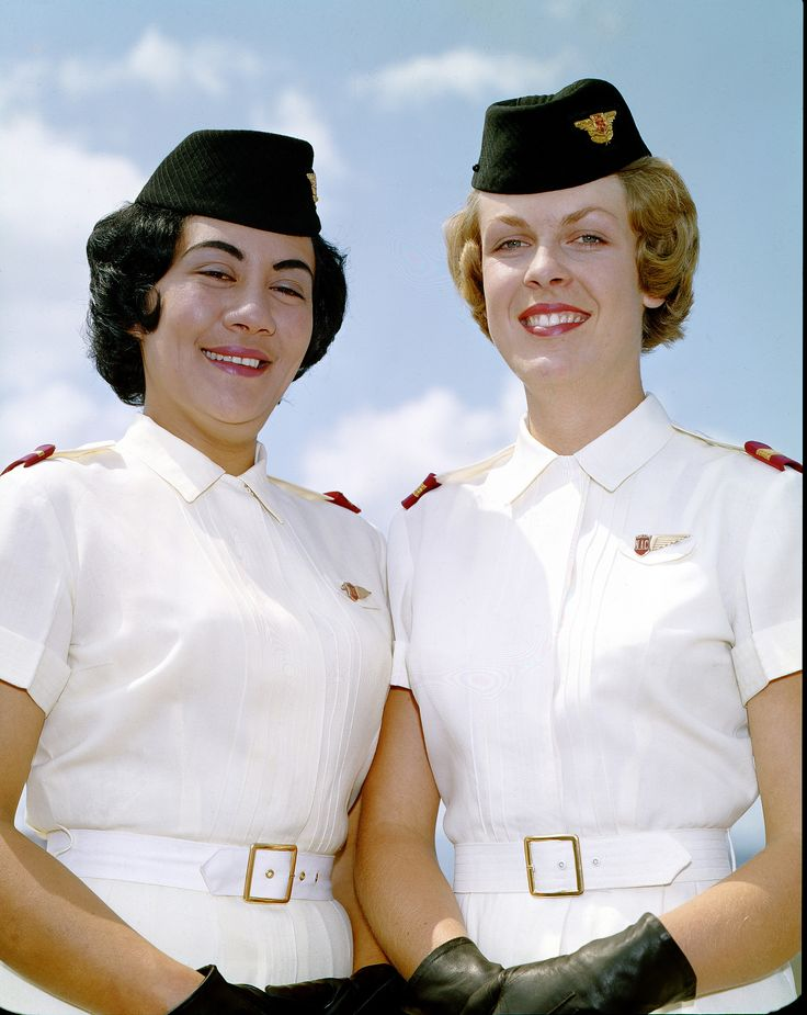 https://flic.kr/p/fEoBU4 | Air Hostess Uniform 1959 Summer of the National Airways Corporation (NAC) between 1959 and 1975. NAC went on to be merged with Air New Zealand