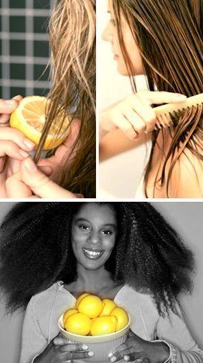DIY Face Masks  : Use lemon juice to naturally highlight your hair. | 13 Simple Beach Beauty Hacks