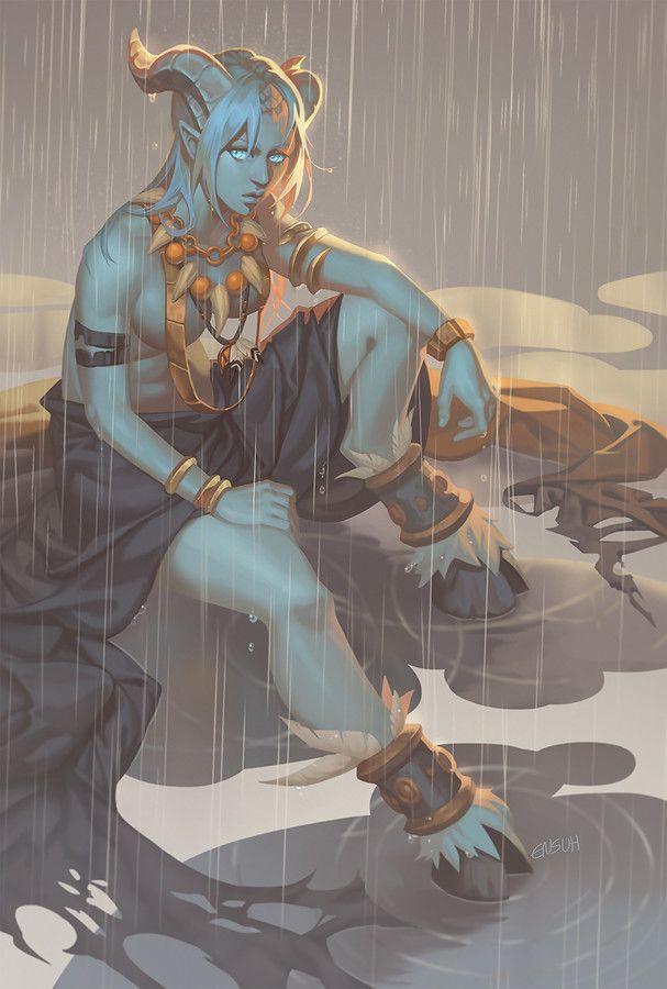 Rain Shaman, emily suh on ArtStation at https://www.artstation.com/artwork/llA6e