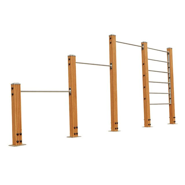 Backyard Gymnastics Bars : Outdoor Pullup bars and ladder  Fitness  Pinterest  Outdoor Bars