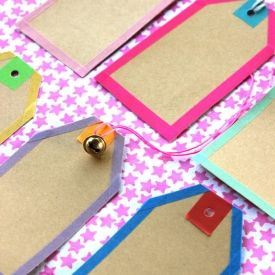 Simple tags made with Washi Tapes / Masking Tapes. (in German with pictures) #ludorn #pynt.it #pyntit #Masking #Washi