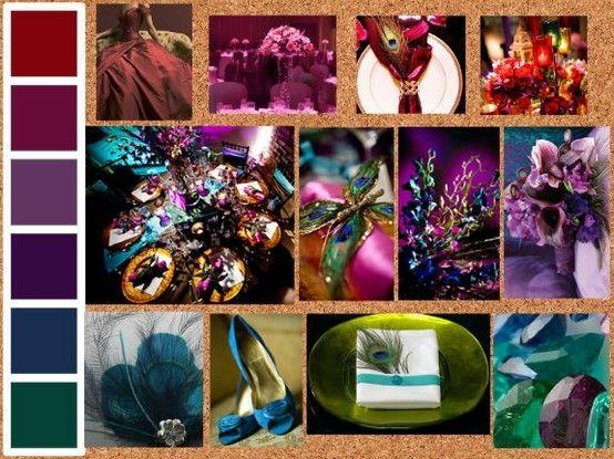Jewel tone color palette by Rachel0013