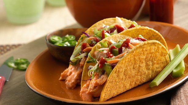 Recipe for Rotisserie Chicken -- Buffalo Chicken Ten Minute Bold Ranch Tacos