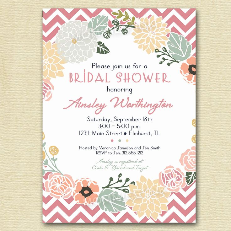 18 best Invitación Flores Rosa Vintage images on Pinterest - bridal shower invitation samples