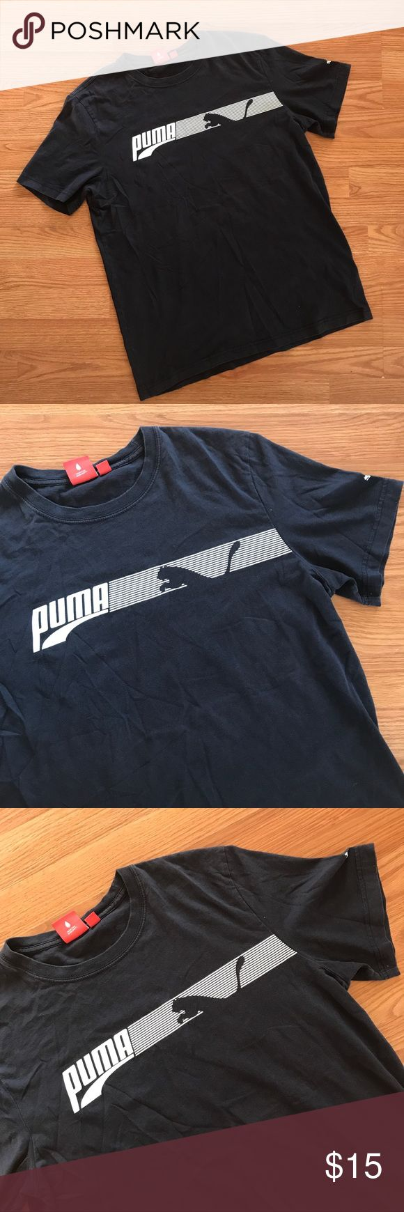 ▪️ VINTAGE▪️ Navy blue original PUMA t-shirt VINTAGE SOFT NAVY BLUE PUMA T SHIRT — SIZE MEDIUM  very soft & comfortable, this shirt is a tiny bit faded from normal wash &'wear. Well broken in l, well Worn, comfortable and relaxed. Perfect vintage :)   #vintage #vtg #original #puma #sneakers #navyblue #retro #clearance #sale #onsale #bogo #freeship Puma Shirts Tees - Short Sleeve