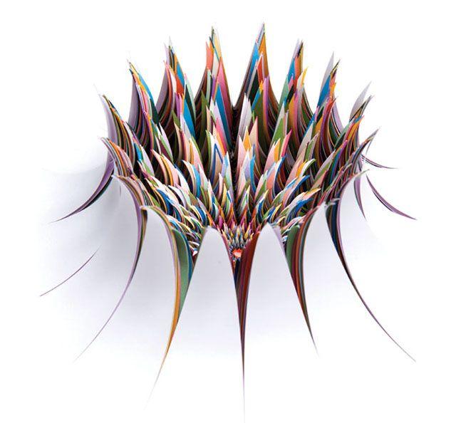hand-cut paper sculptures by Jen Stark: Contemporary Artists, Jenstark, Paper Sculpture, Paperart, Paper Work, Paper Artworks, Cut Paper, Paper Crafts, A Stark