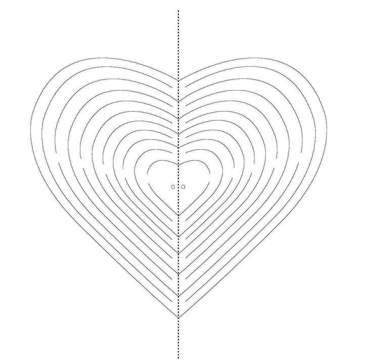valentýnské přání, 3D srdce, vystřihovánka srdce,valentýncké srdce návod, svatý valentin